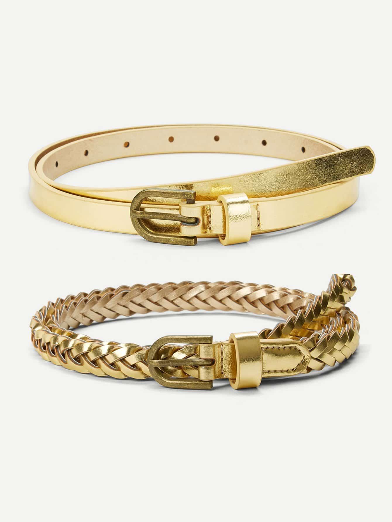 Metallic Woven Belt 2pcs metallic woven belt 2pcs