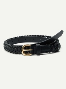 Metal Buckle Woven Belt