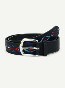 Geometric Embroidery Belt