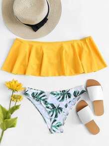 Palm Print Bikini Set