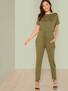 Lattice Back Jumpsuit