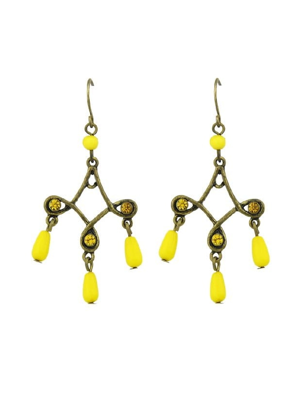 Yellow Retro Tassel Earrings цены онлайн