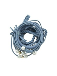 Blue Fresh And Simple Hair Ring Set