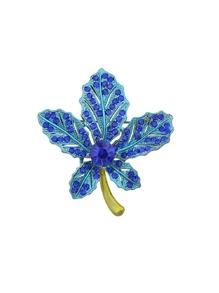 Blue Maple Leaf Brooch