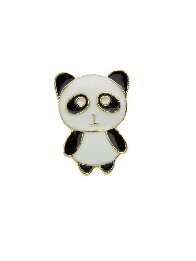 Black-white Panda Brooch кружка best home porcelain грация 320 мл
