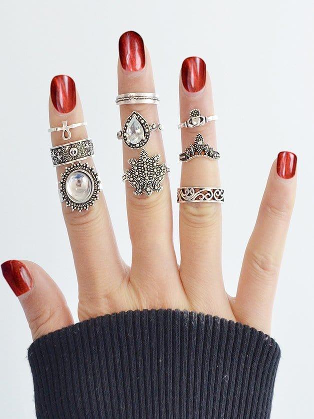 Exaggerated Gemstone Ring 9 Sets все цены