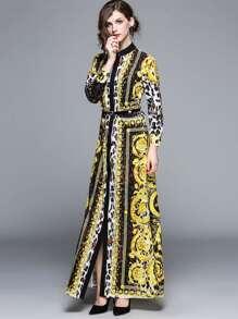 Leopard Print Longline Shirt Dress