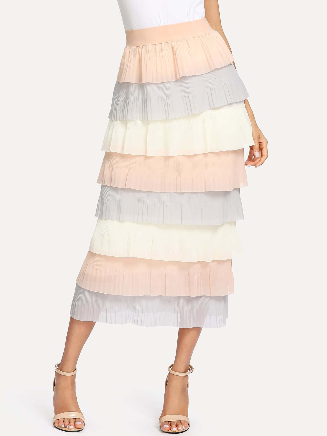 Фото - Tiered Layer Skirt lace tiered layer skirt
