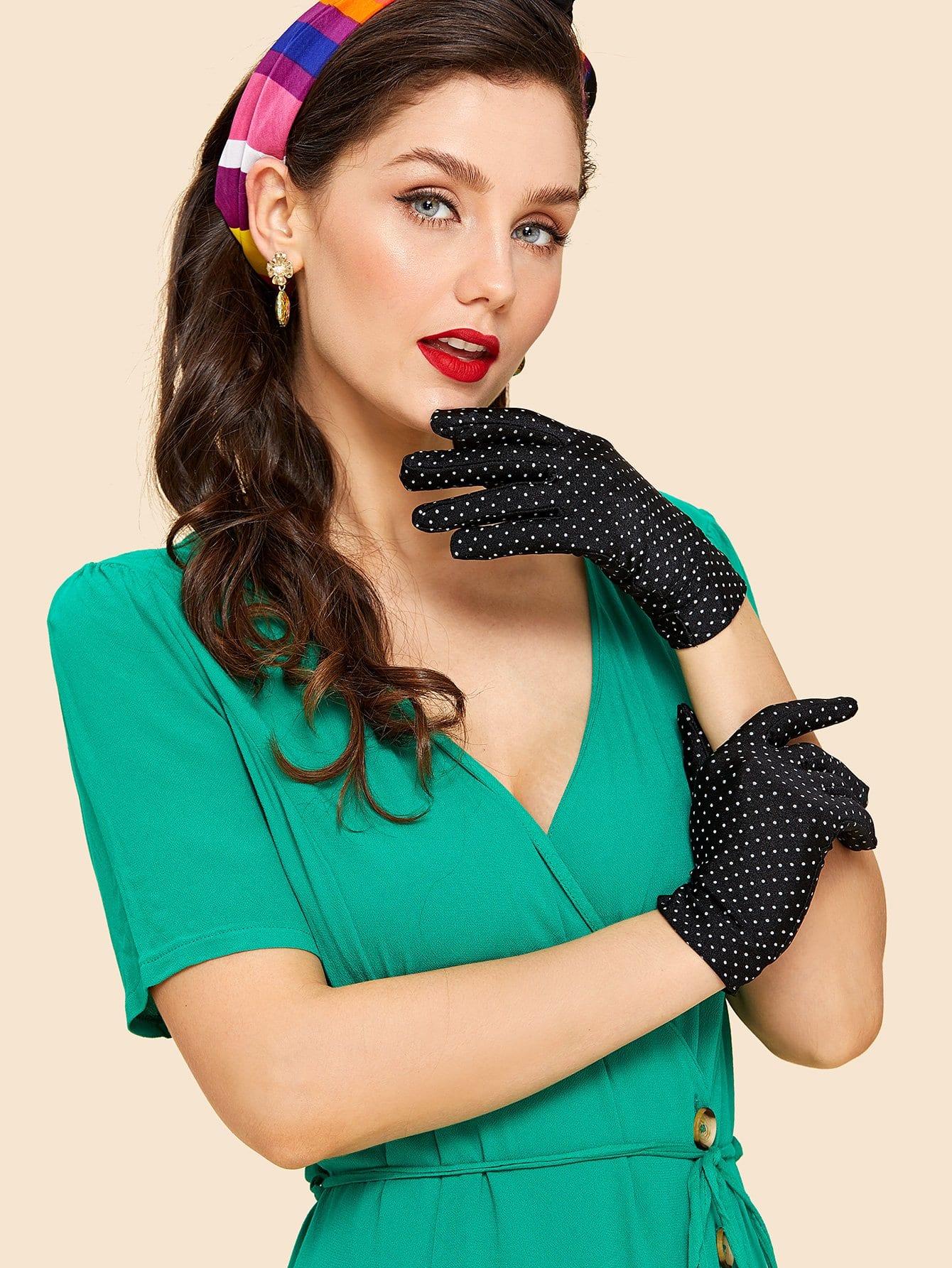 Polka Dot Gloves polka dot gloves