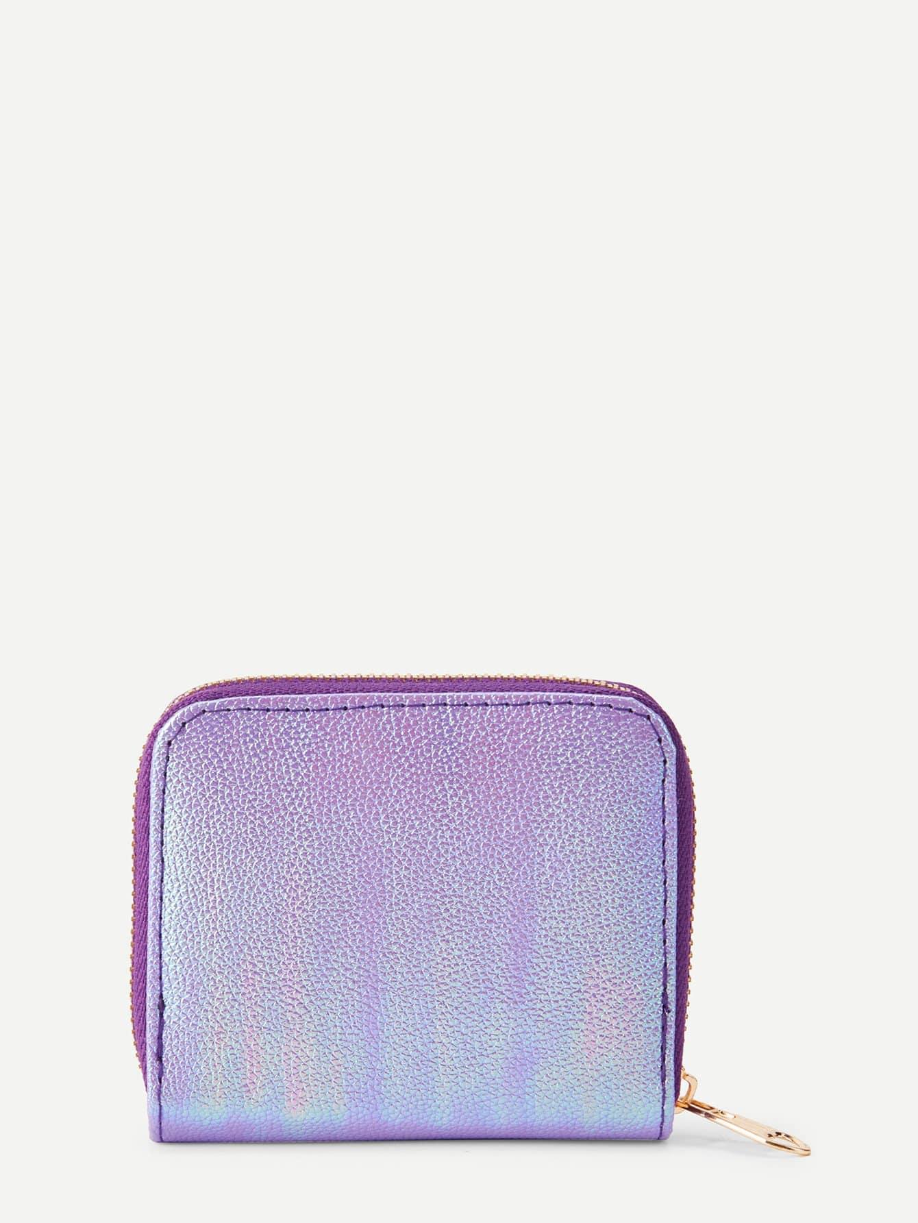 Iridescent PU Wallet iridescent pu wallet