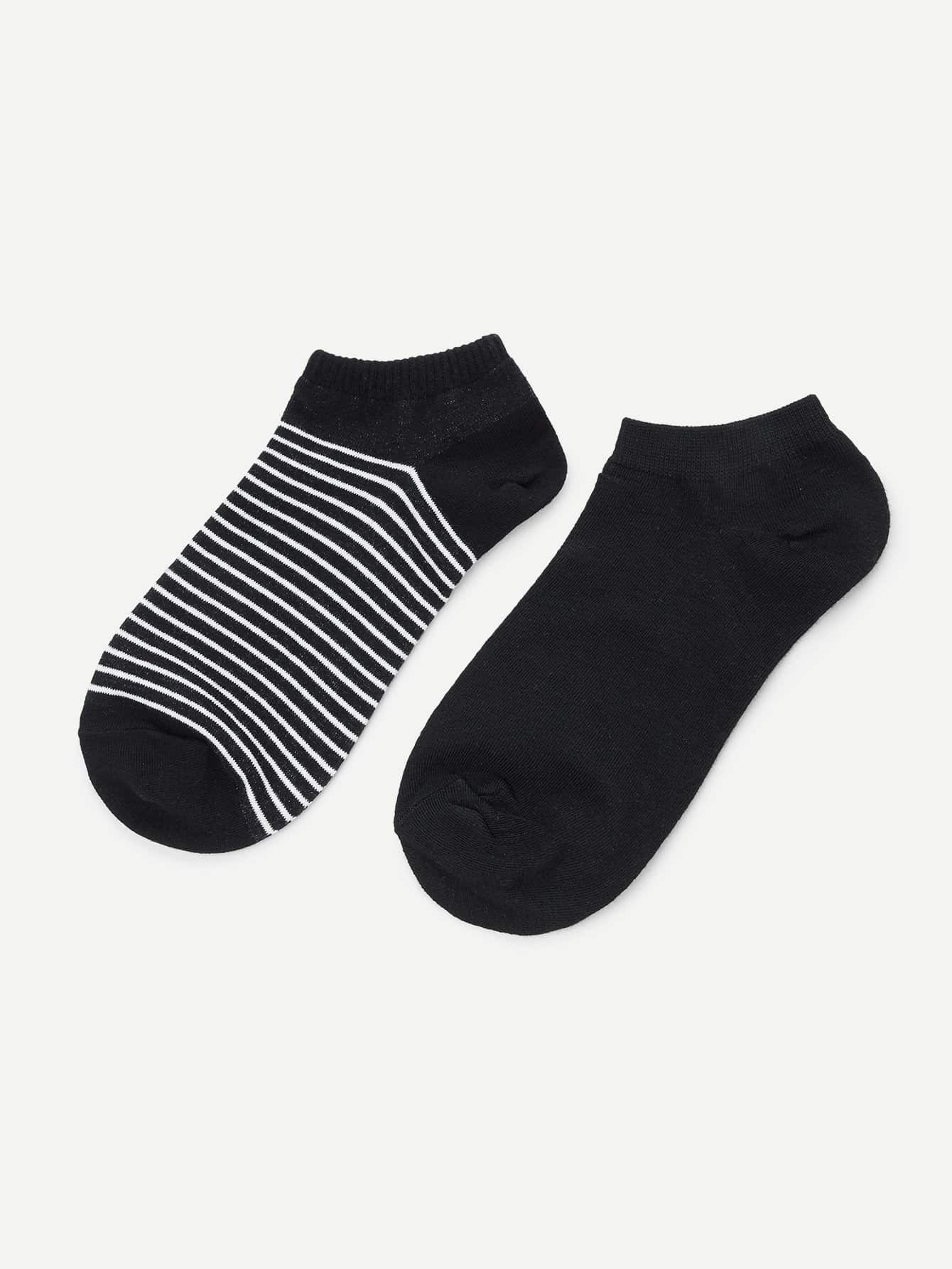Stripe Pattern Ankle Socks letters pattern kintting ankle socks