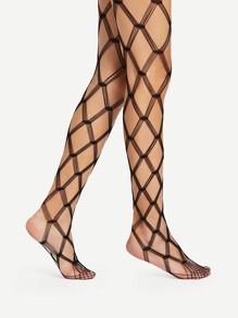 Mesh Design Pantyhose Stockings