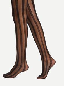 Striped Design Pantyhose Stockings