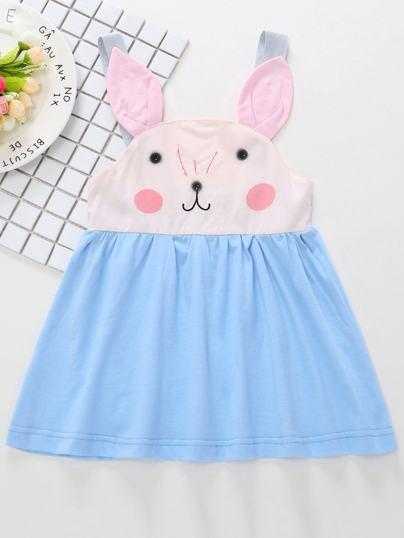 Kids Cartoon Print Overall Dress overall yumi overall