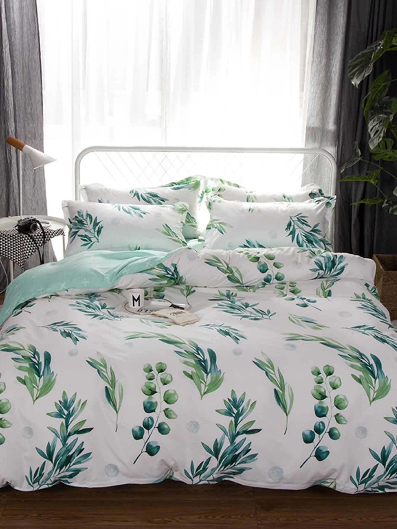 Тропический Комплект постельного белья Многоцветный Постельное белье