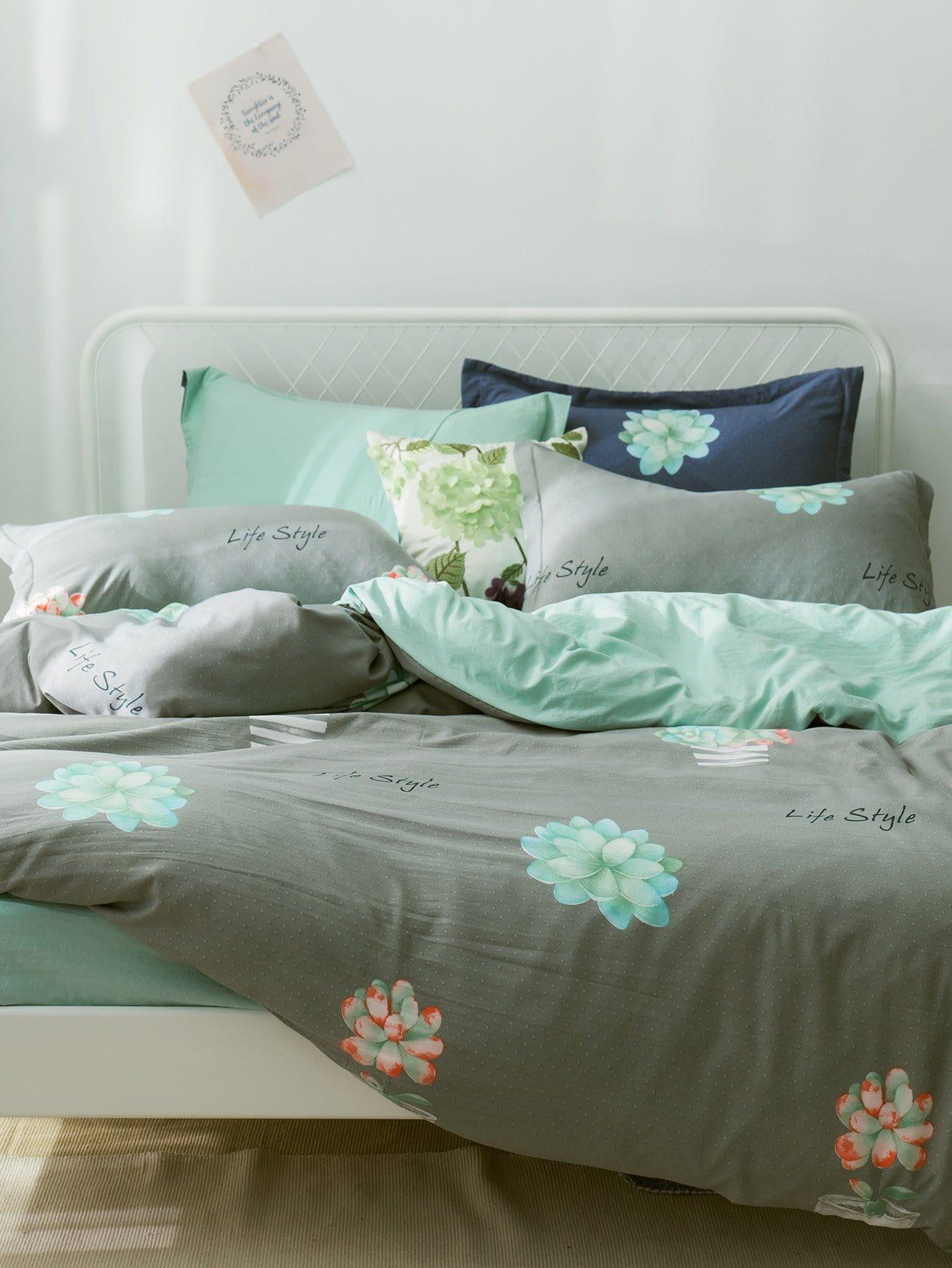 Комплект постельного белья Зелёные Постельное белье