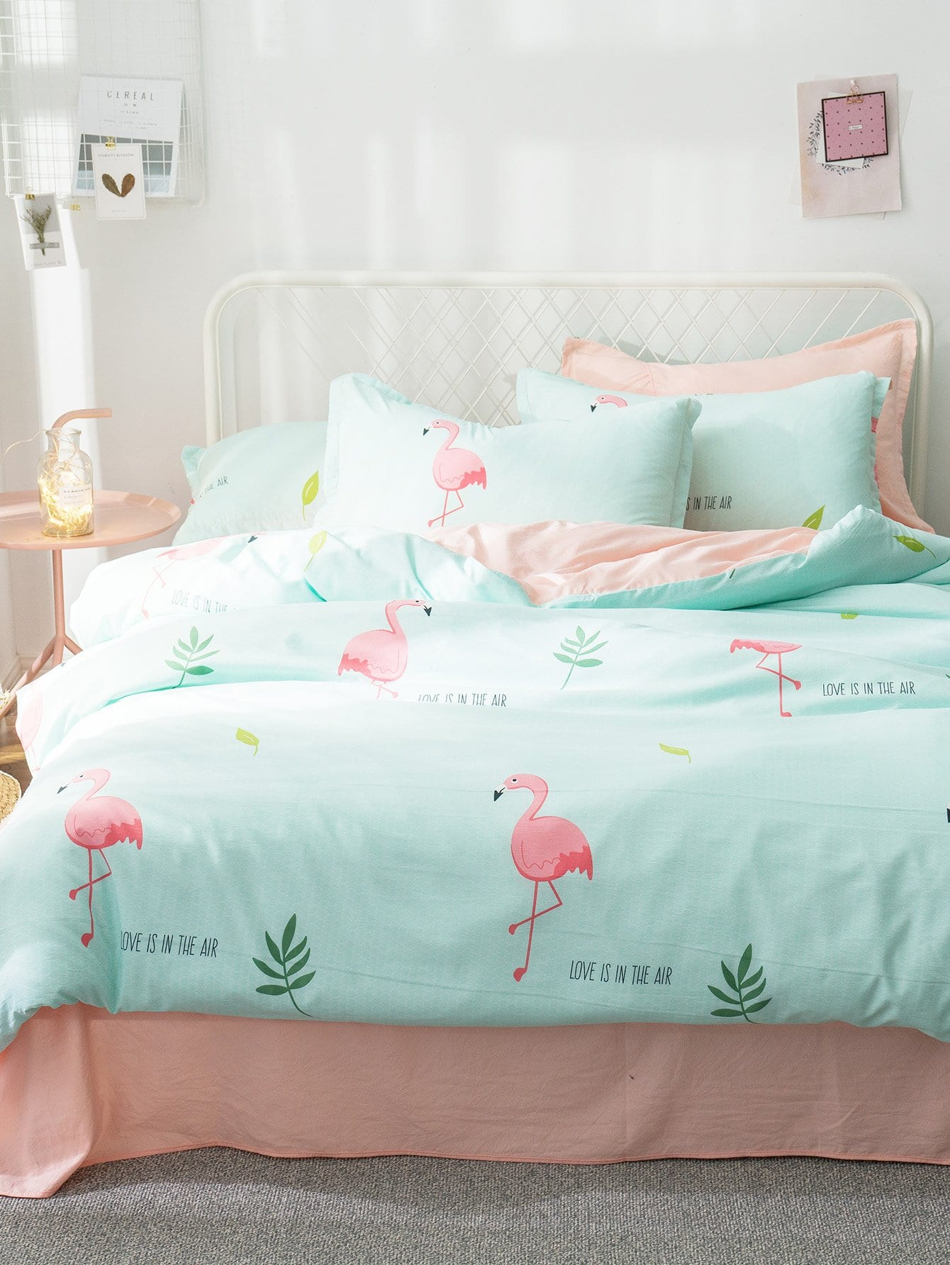 Животный принт Комплект постельного белья Зелёные Постельное белье