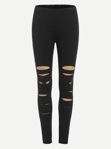 Ripped Detail Skinny Leggings