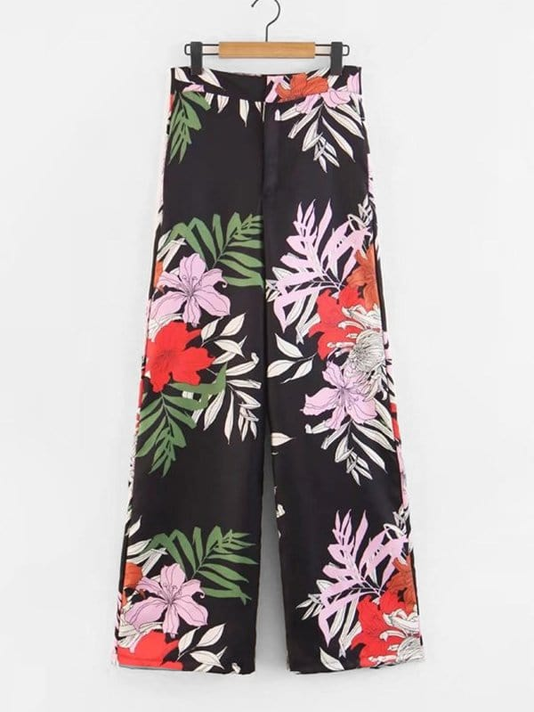 Jungle Print Wide Leg Pants все цены