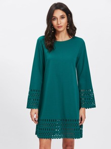 Laser Cut Tunic Dress