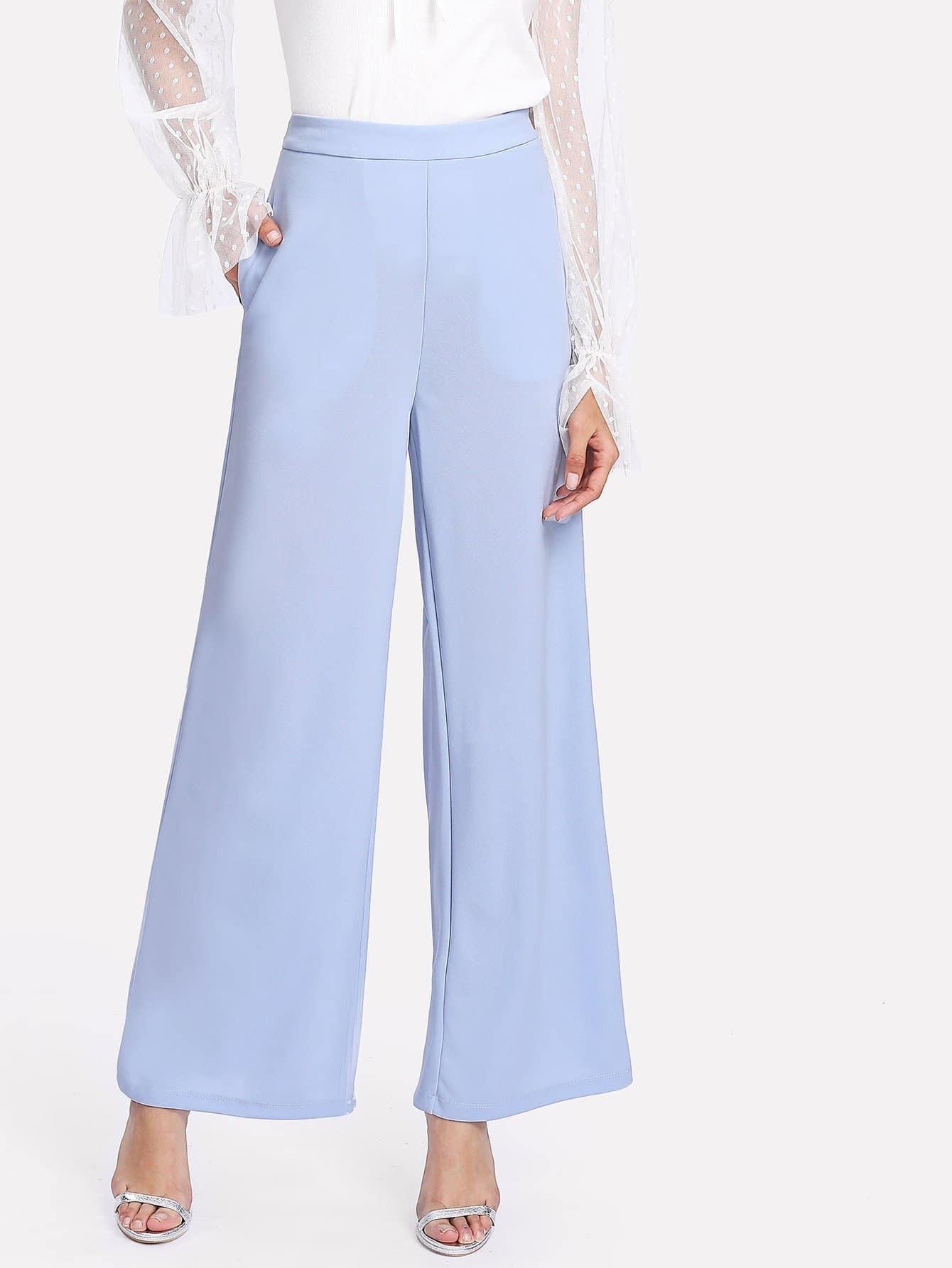 Wide Leg Solid Pants alfred dunner women s wide leg pants 18w multi