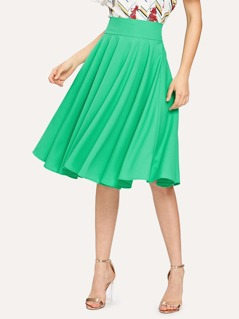 High Rise Wide Waistband Circle Skirt