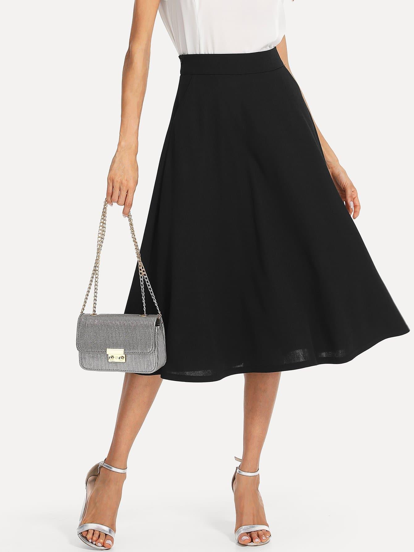 Наклонная круглая круглая юбка, Andy, SheIn  - купить со скидкой