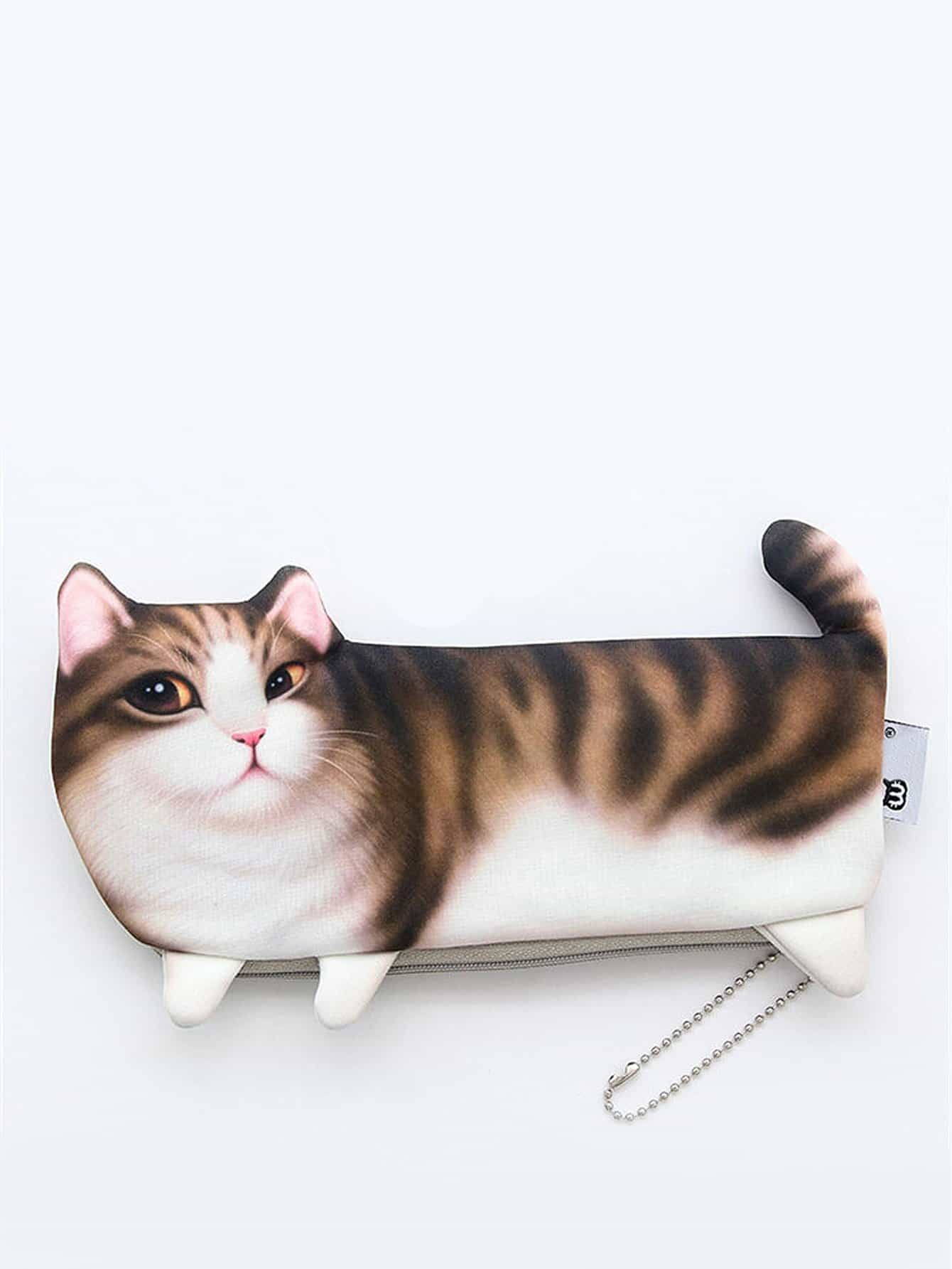 Cat Shaped Pencil Case magnetic axial aspirated new original pneumatic pencil shaped cylinder pbr8x150 s r