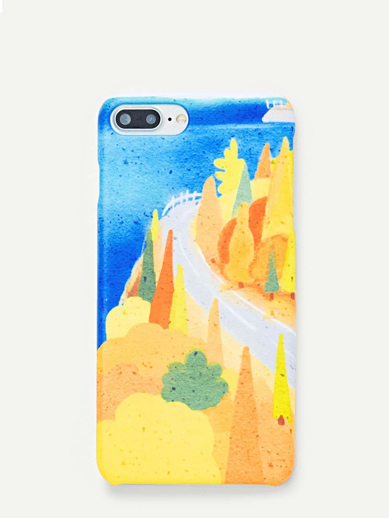 Купить Чехол для IPhone с принтом джунгли мультики, null, SheIn