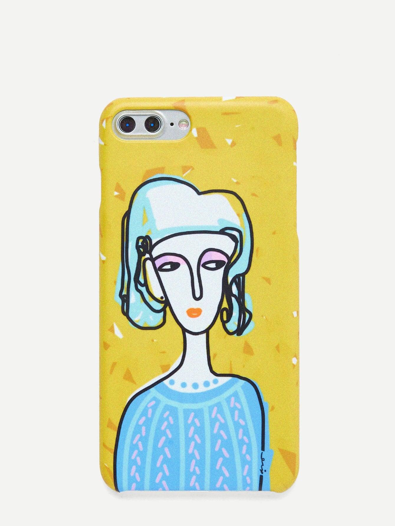Купить Чехол для IPhone молодая леди, null, SheIn
