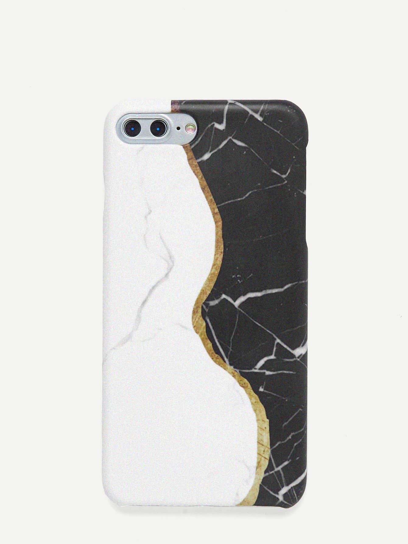 Купить Чехол для IPhone мрамор два цвета, null, SheIn