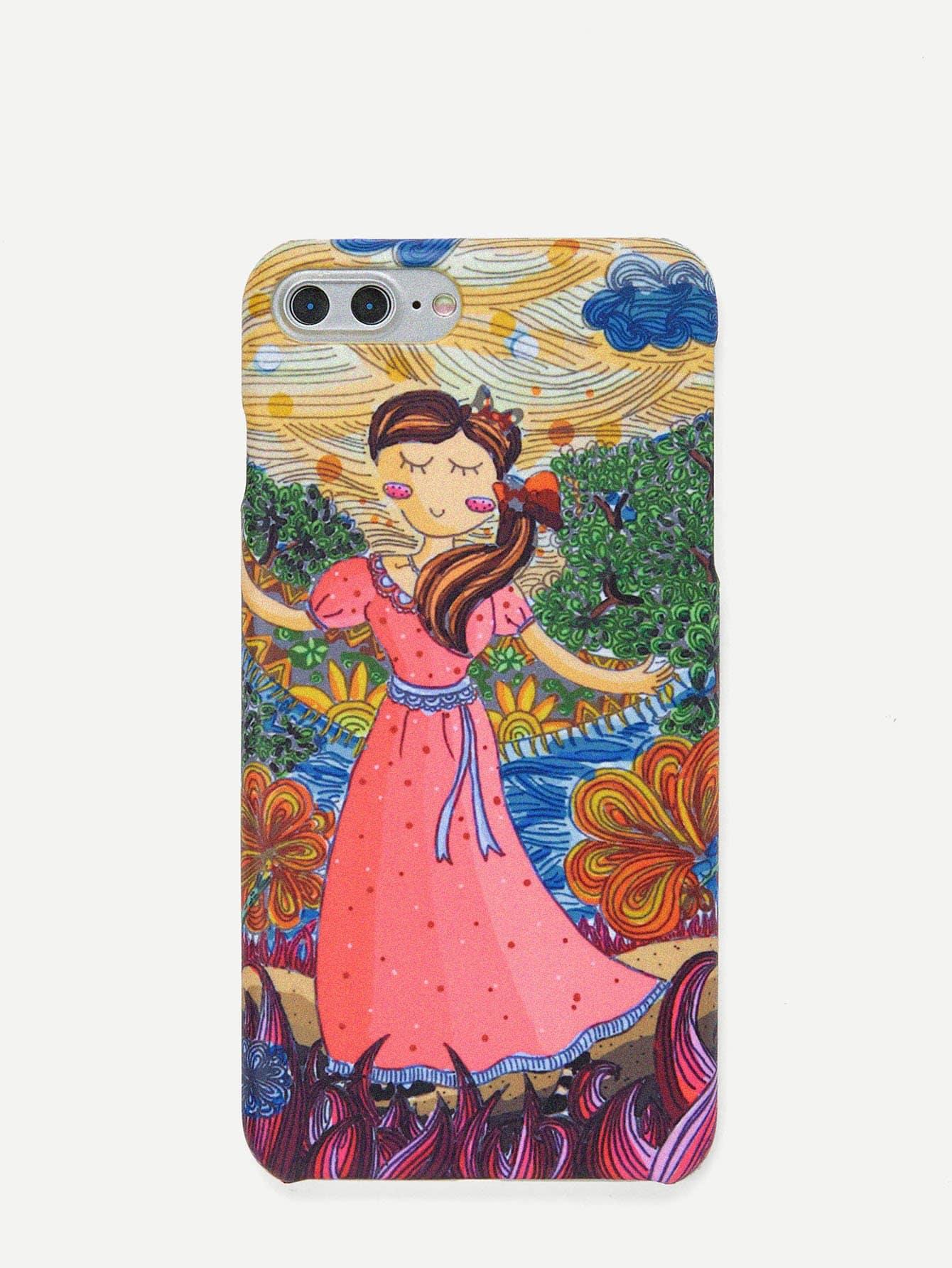 Купить Чехол для IPhone мультяшная девочка, null, SheIn