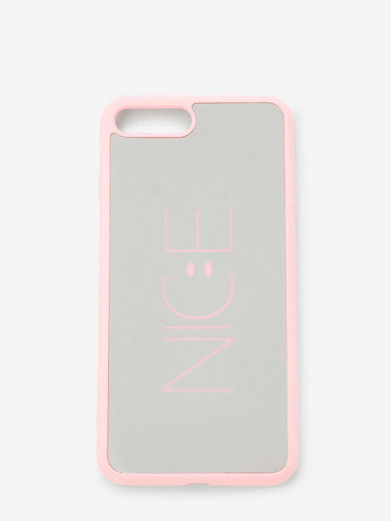 Купить Чехол для IPhone слоган силиконовый, null, SheIn