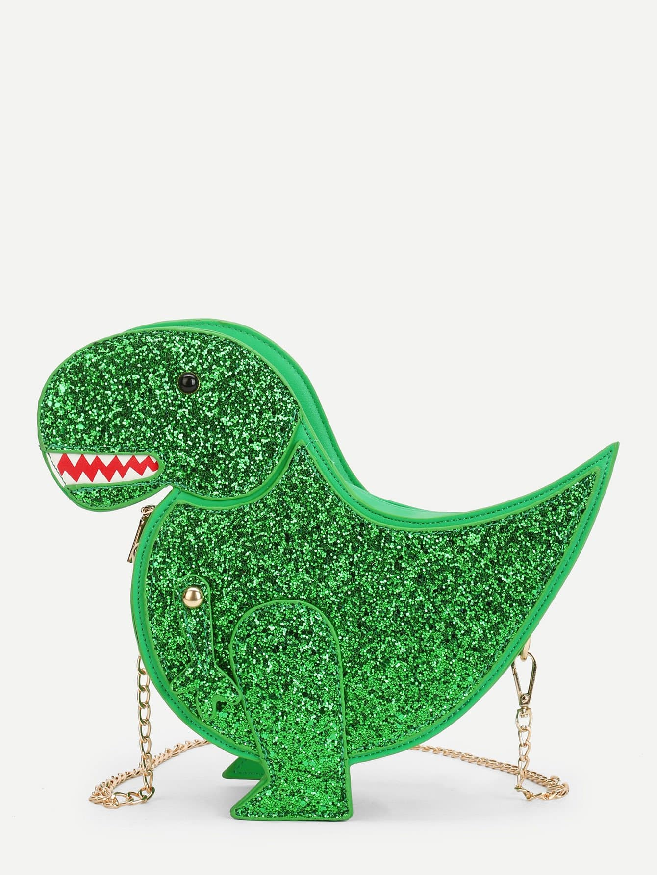 Купить Sequin Overlay Dinosaur Design Chain Bag, null, SheIn