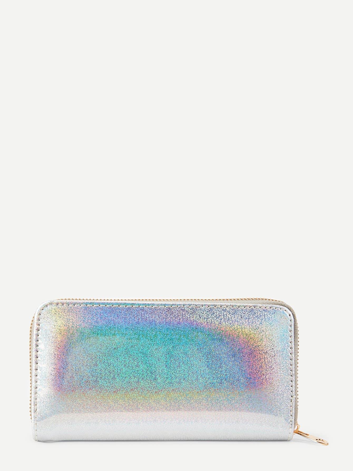 Iridescent PU Purse iridescent pu wallet