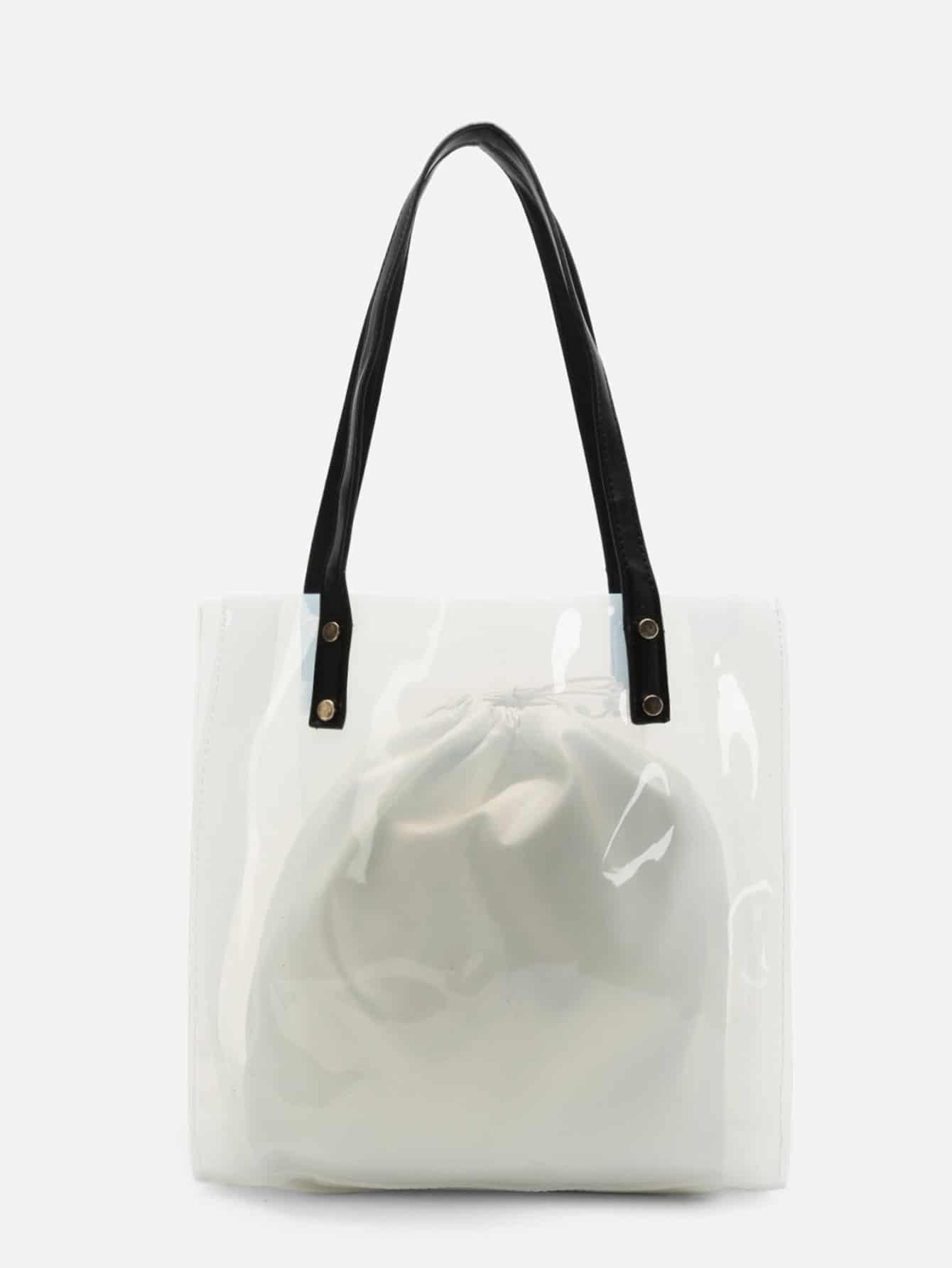 Прозрачная сумка с внутренним чехлом