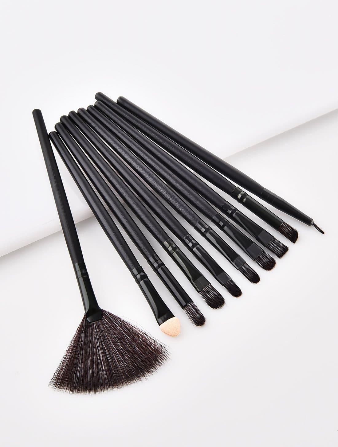 Fan Shaped Makeup Brush 10pcs