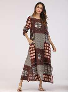 Color Block Hidden Pocket Dress