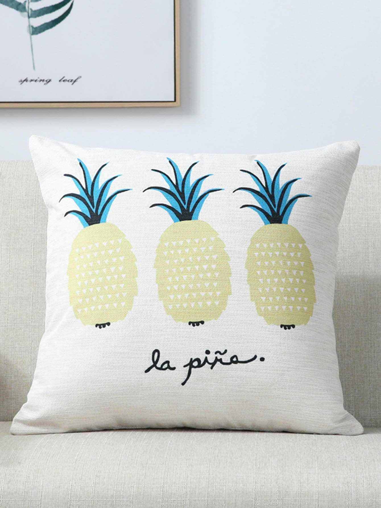 Pineapple & Letter Print Pillow leds c4 suite 05 0380 bw b8