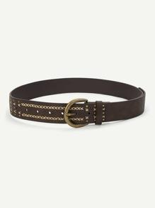 Criss Cross Metal Buckle Belt