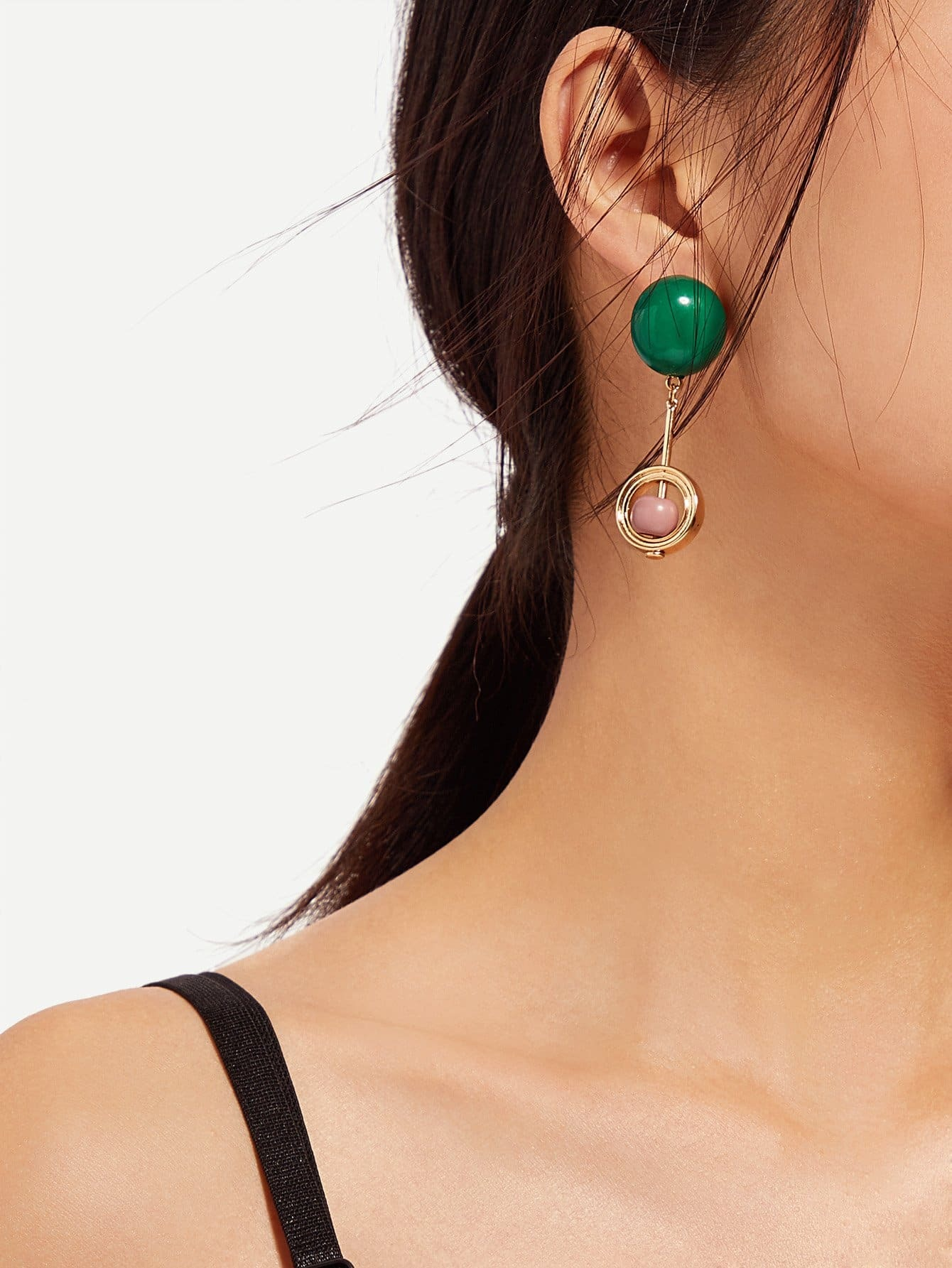 Bar And Hoop Drop Earrings silver plated bar dangle drop earrings