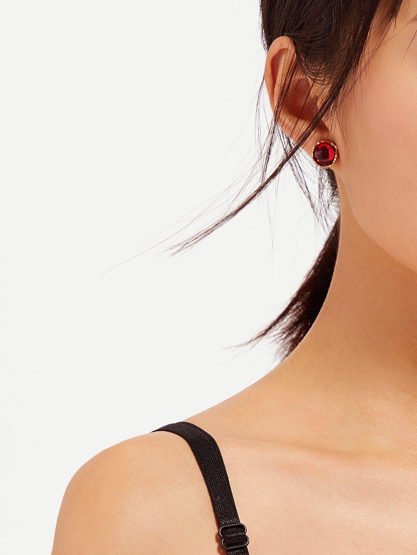 Gemstone Clip On Earrings