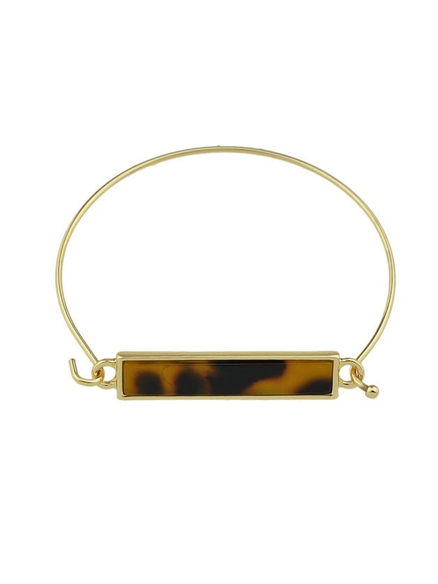 Gold-Color Chain With Open Cuff Bangle