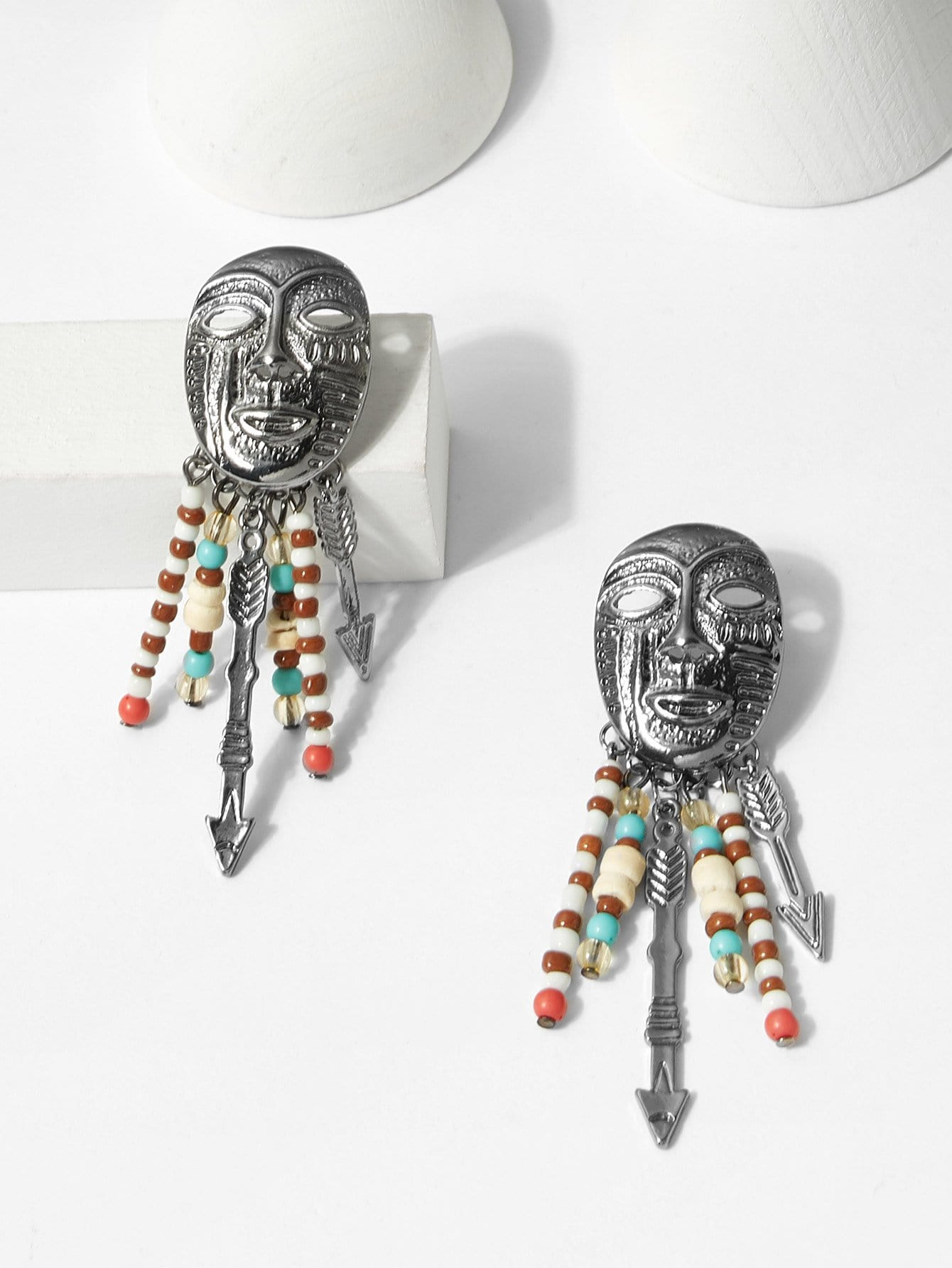 Mask Design Drop Earrings mask design drop earrings