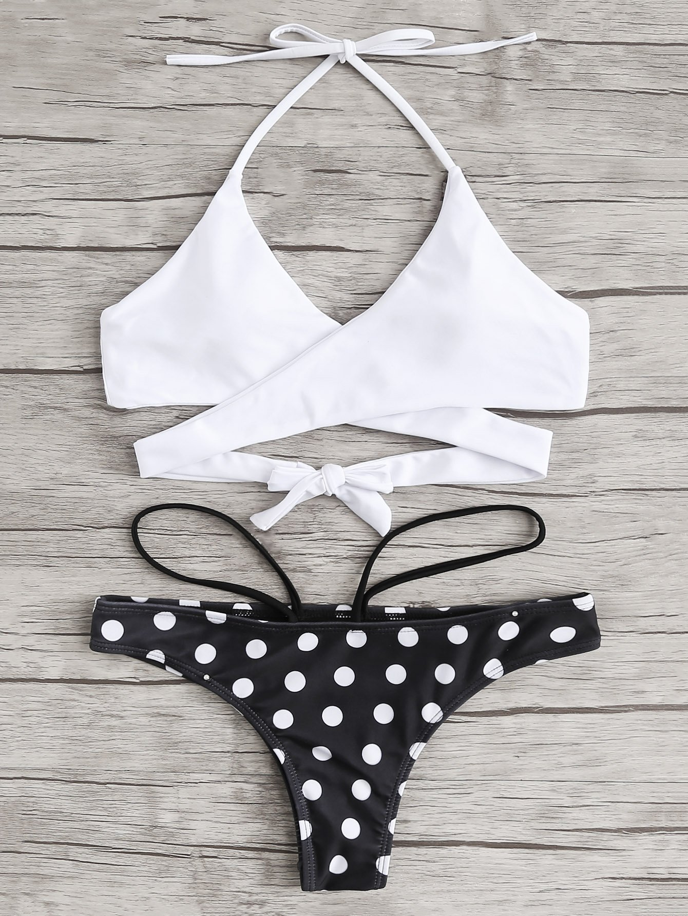 Cross Wrap Mix & Match Bikini Set cross wrap mix and match bikini set
