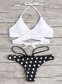 Cross Wrap Mix & Match Bikini Set