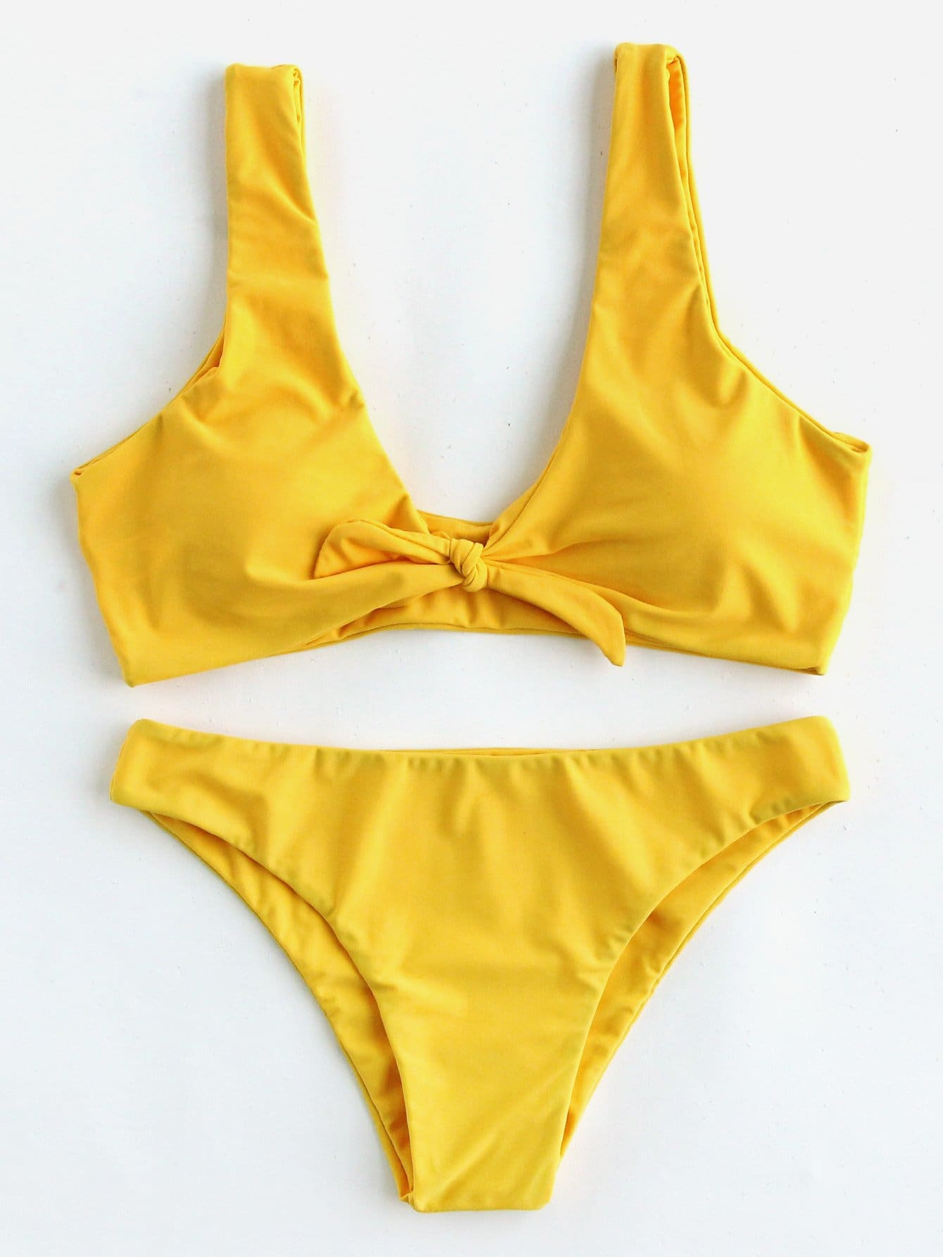 все цены на Plus Knot Front Bikini Set