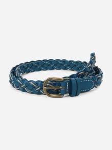 Metal Buckle Braided Belt