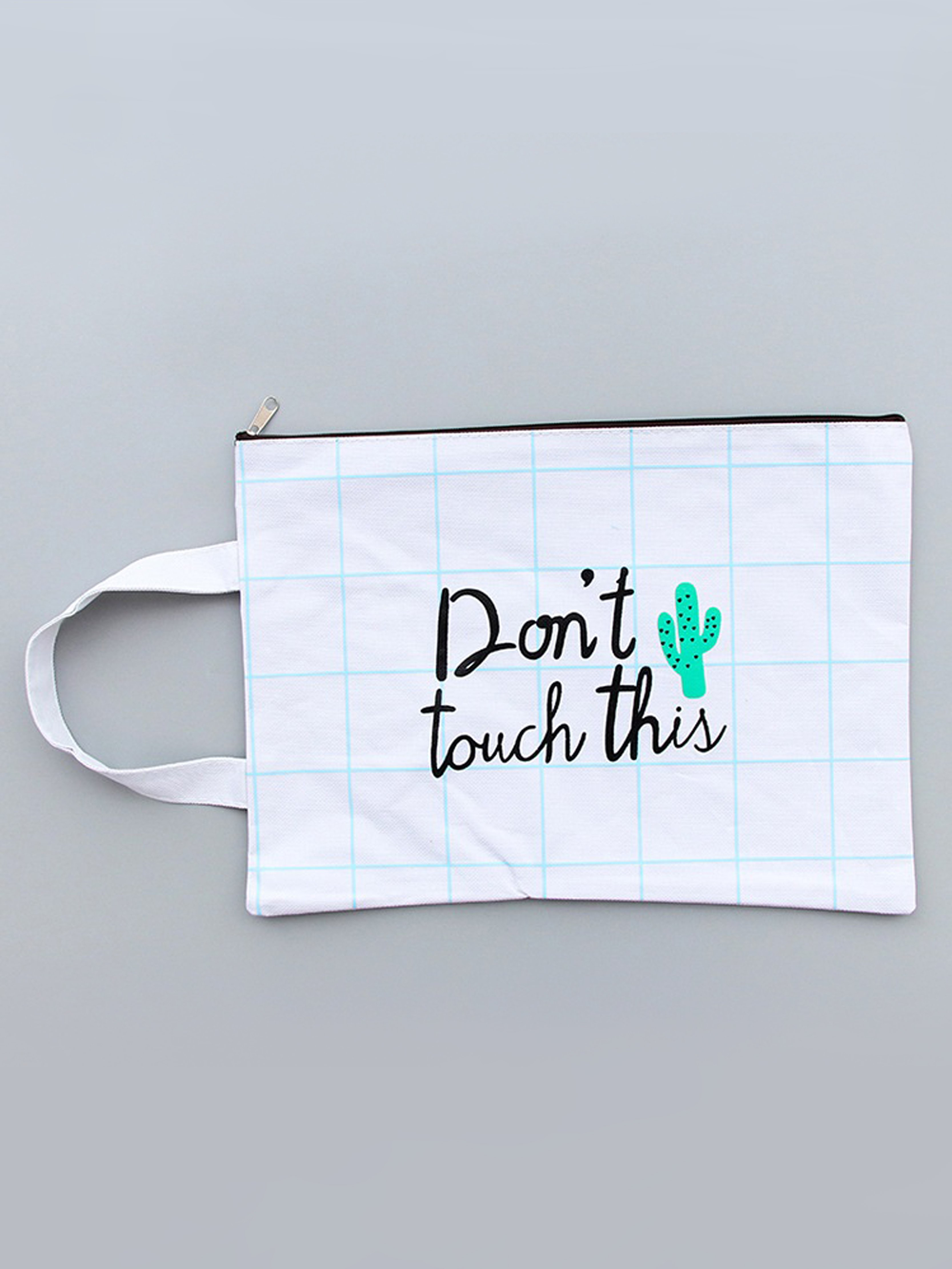 Cactus & Grid File Bag