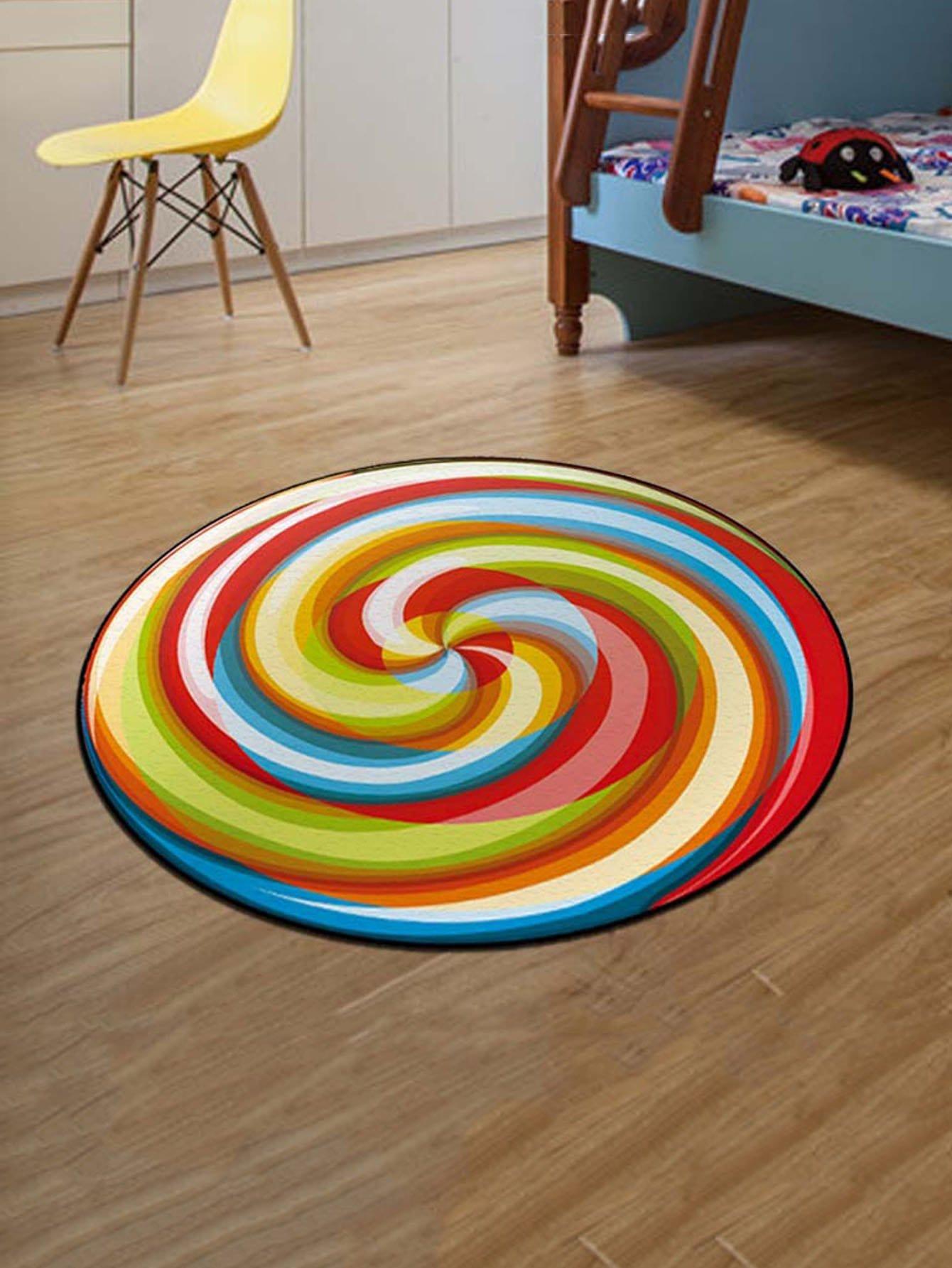 Round Spiral Tie Dye Mat